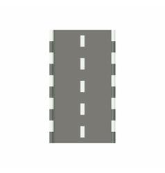 Road icon in cartoon style vector