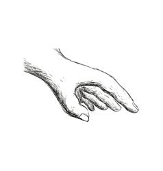 Sketch hand icon gesture hand design vector