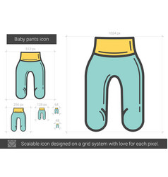 Baby pants line icon vector