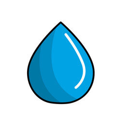 blue water drop save eco vector image vector image