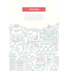 Business Training - line design brochure poster vector image