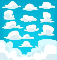 Cartoon cloud drawing collection set vector