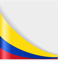 colombian flag background vector image