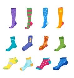 Colorful fun socks set vector