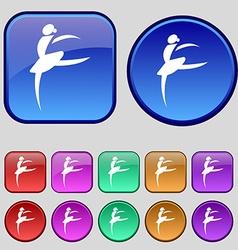Dance girl ballet ballerina icon sign a set of vector