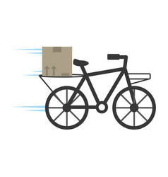 Delivery bicycle box service vector