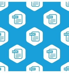 Doc file hexagon pattern vector image