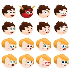 Emotions vector image vector image