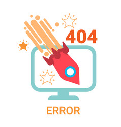 Error icon 404 not found broken message banner vector
