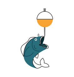 fish hook isolated icon vector image