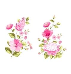 Floral wedding garland collection vector