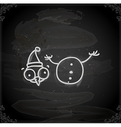 Hand Drawn Beheaded Snowman vector image vector image