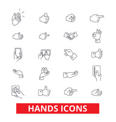 hands pointings tap rotate touch press swipe vector image