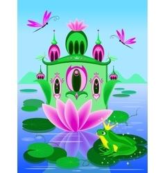 House of frog princess vector
