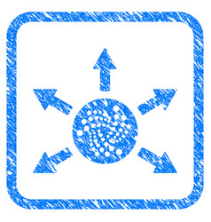 Iota cashout arrows framed stamp vector