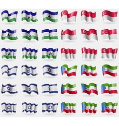 Lesothe singapore israel equatorial guinea set of vector