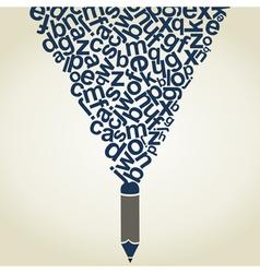 Letter a pencil vector