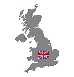 map of britain vector image