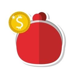 Money bag coins finance icon vector