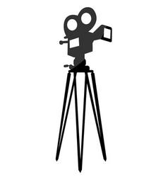 movie camera vector image vector image