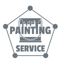 Painting service logo simple style vector