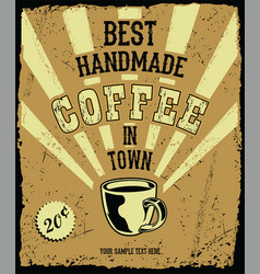 Retro vintage coffee background 2 vector