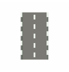 Road icon in cartoon style vector image