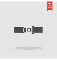 Safe belt modern design flat style vector