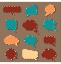 Speech bubbles tag sticker set chat dialog vector