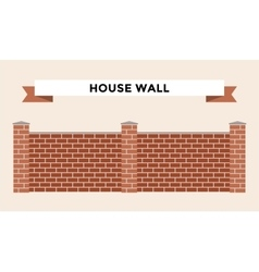 Stone bricks fence isolated on white background vector image vector image