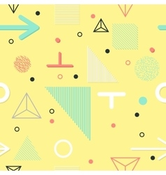 Trendy geometric elements memphis cards seamless vector
