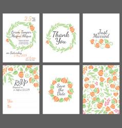 wedding design invitations vector image