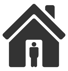 House owner flat icon vector