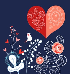 Holiday heart vector