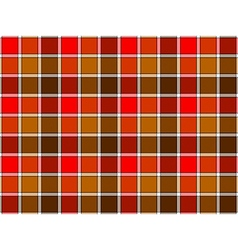 Red brown autumn check seamless background vector image