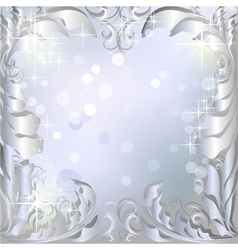 Silver winter background vector image