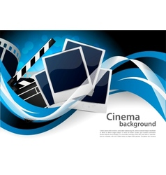 Background with cinema elements vector image