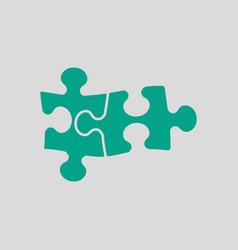 Puzzle decision icon vector