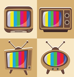 Set of classic television vector