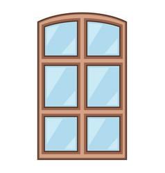 wood window frame icon cartoon style vector image