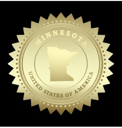 Gold star label Minnesota vector image
