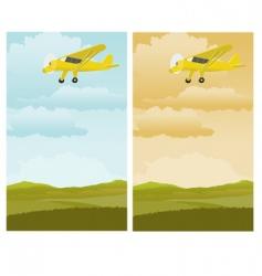Single engine plane vector