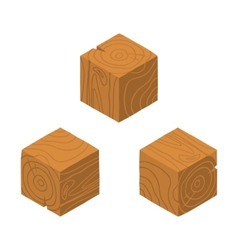 Isometric game brick cubes set vector