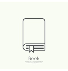 Icon of an book vector