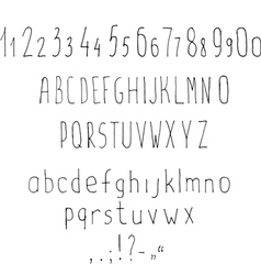 Stylized latin alphabet vector