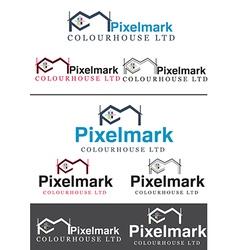 Printing house company Logo vector image