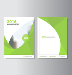 Green annual report leaflet brochure flyer vector