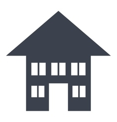 Real estate isolated flat icon vector