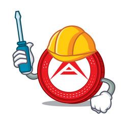 Automotive ark coin mascot cartoon vector