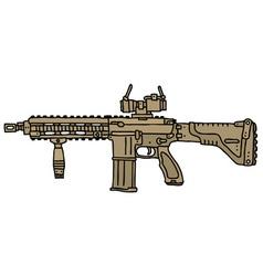Big automatic gun vector